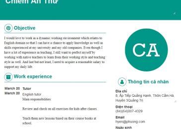 Cách viết CV Tiếng Anh hay khả năng thuyết phục nhà tuyển dụng cao