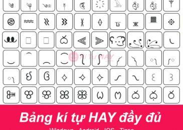Ứng dụng kí tự đặc biệt KiTuHay tại Việt Nam